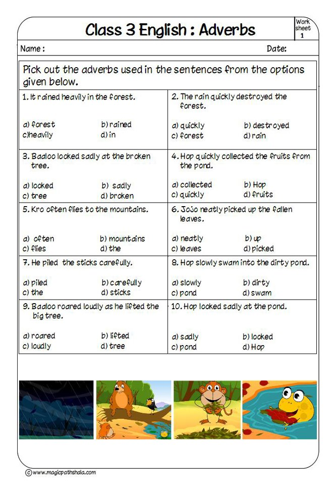 Adverbs for Kids | Adverbs Exercises | Adverbs Worksheets