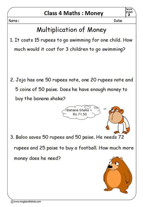 Money For Kids  Money Worksheets  Conversion Of Money