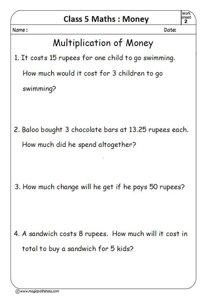 Multiplying Money Worksheets. Money Multiplication Worksheets ...
