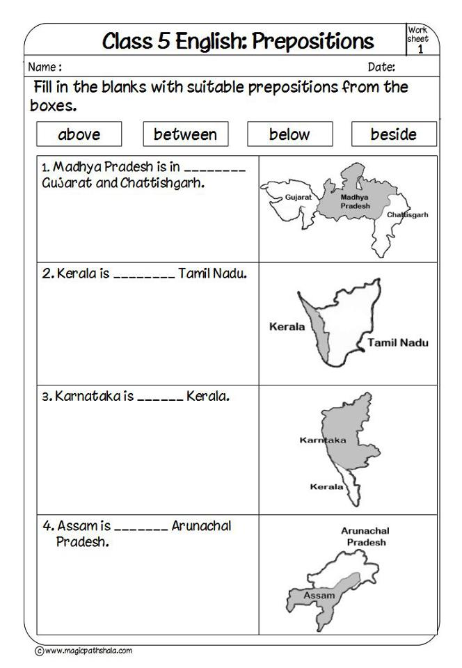 Prepositions Worksheets For Class 5 englishlinx prepositions worksheetsenglishlinx ...
