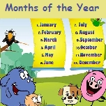 Wall chart on months of the year!