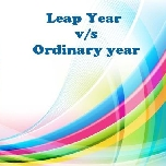 Leap year vs ordinary year