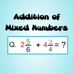 Addition of mixed numbers