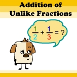 Addition and subtraction of unlike fractions