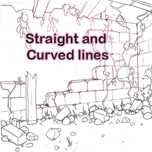 Straight and curved lines